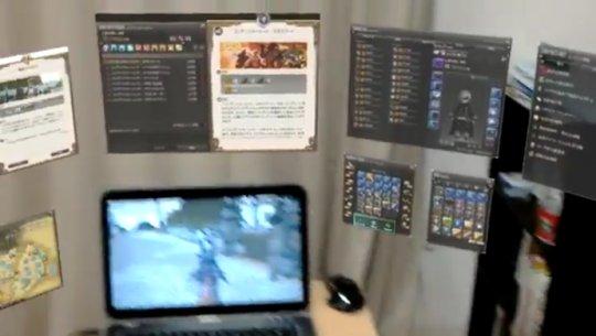 【ニューロリンカー】ARデバイス「ホロレンズ」で『FF14』をプレイした動画が話題に!!これが未来のゲームの形なのか・・・