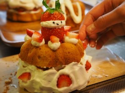 M_studiomimosasaサンタケーキ