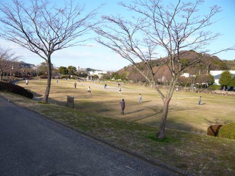 お正月の公園