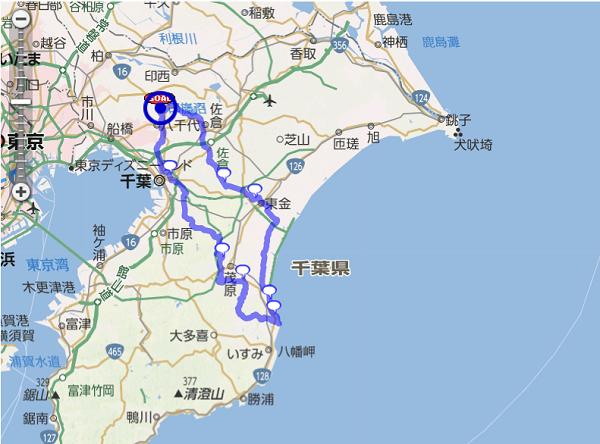 20161223九十九里太東崎コース