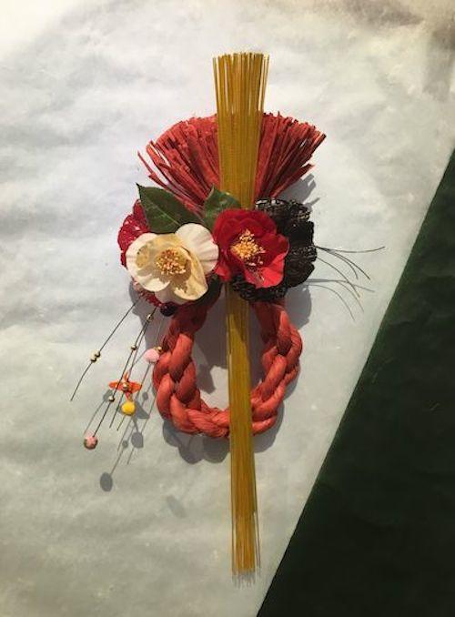 12月9日ブログしめ飾り赤水引