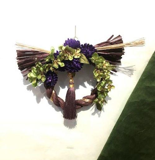 12月9日ブログしめ飾り紫
