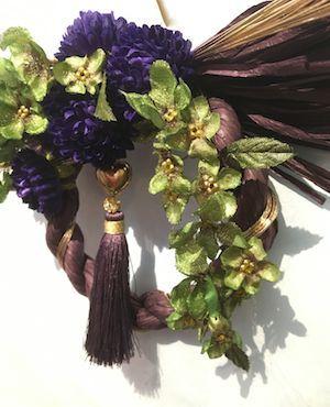 12月9日ブログしめ飾り紫アップ