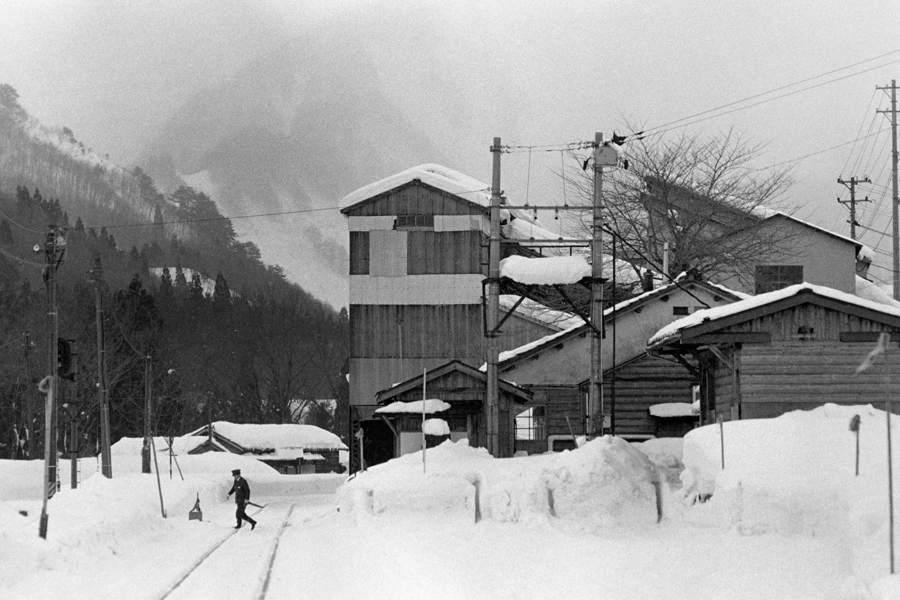 赤谷線 東赤谷駅1 1983年2月  AdobeRGB 16bit 原版take1b