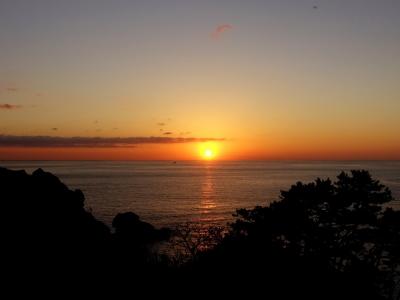 あいあい岬の夕日
