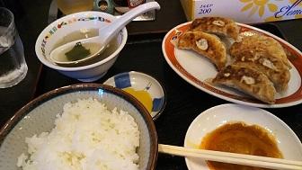 焼餃子定食御舟