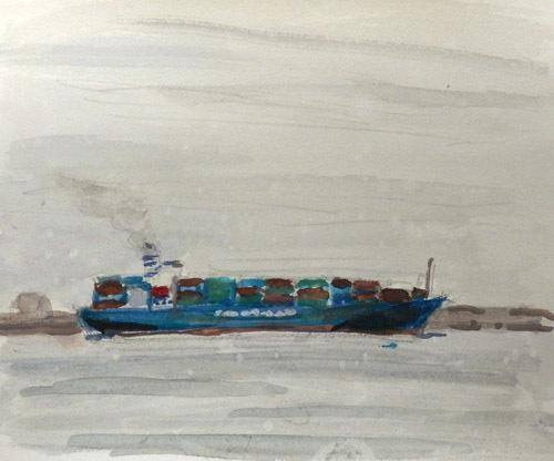 東京湾をゆく船-6