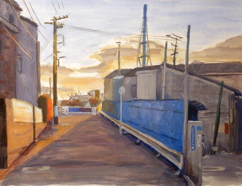 川沿いの工場