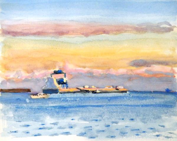 東京湾をゆく船-10