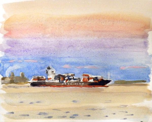 東京湾をゆく船-11