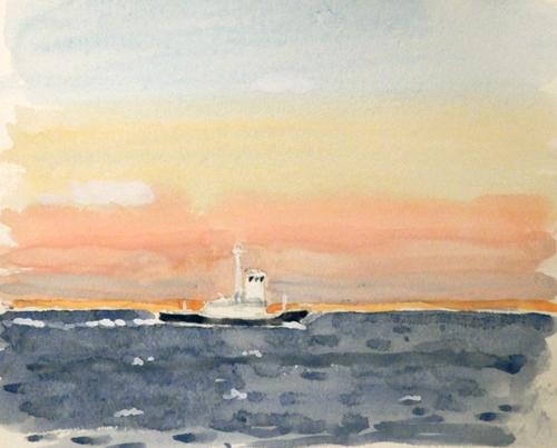 東京湾をゆく船-13