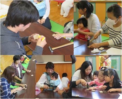 神戸木育教室・鋲打ち