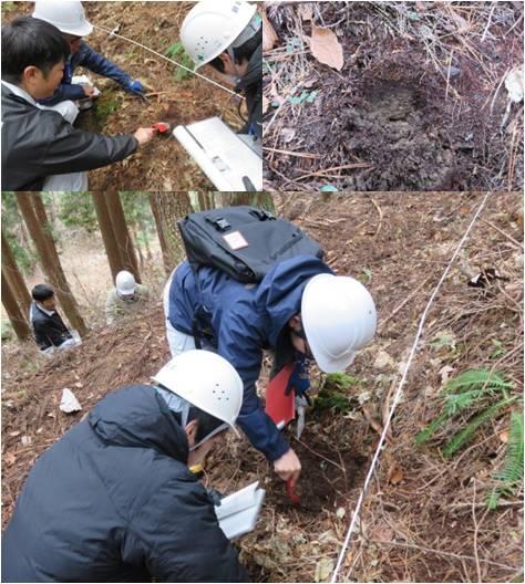 森の通信簿白鳥・土の調査