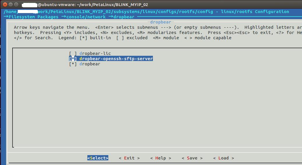 □petalinux -config でsshを有効にする - gogo fpga