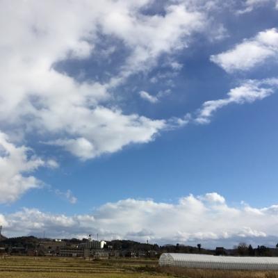 12月なのに、まだ雪もない新潟のそら