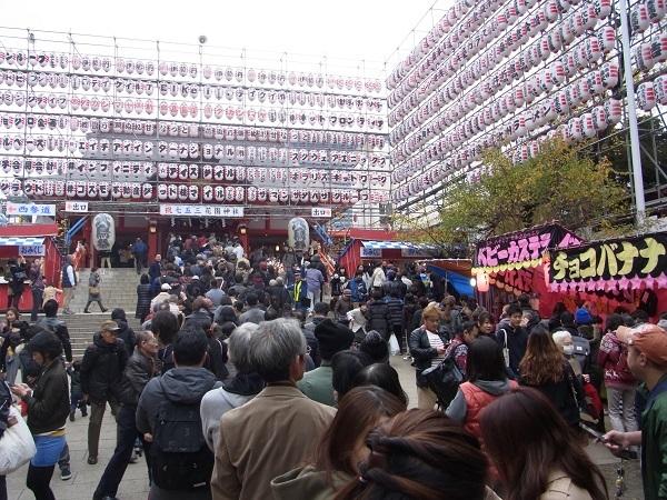 20161123花園神社酉の市参詣の列