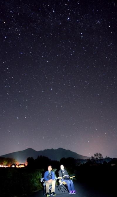 八ヶ岳と北極星2