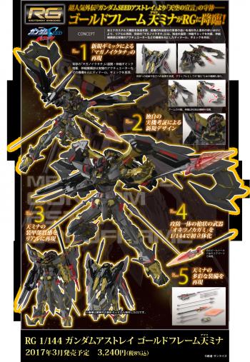 RG ガンダムアストレイゴールドフレーム天ミナの商品説明画像 (2)