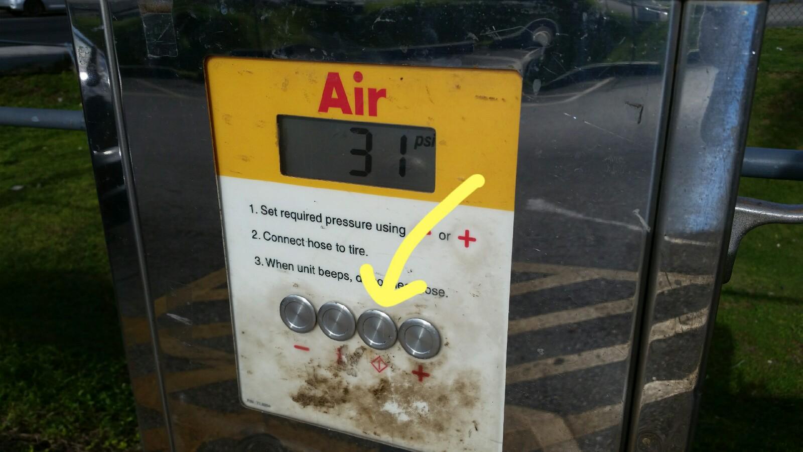 ガソリンスタンドタイヤパンク空気入らない