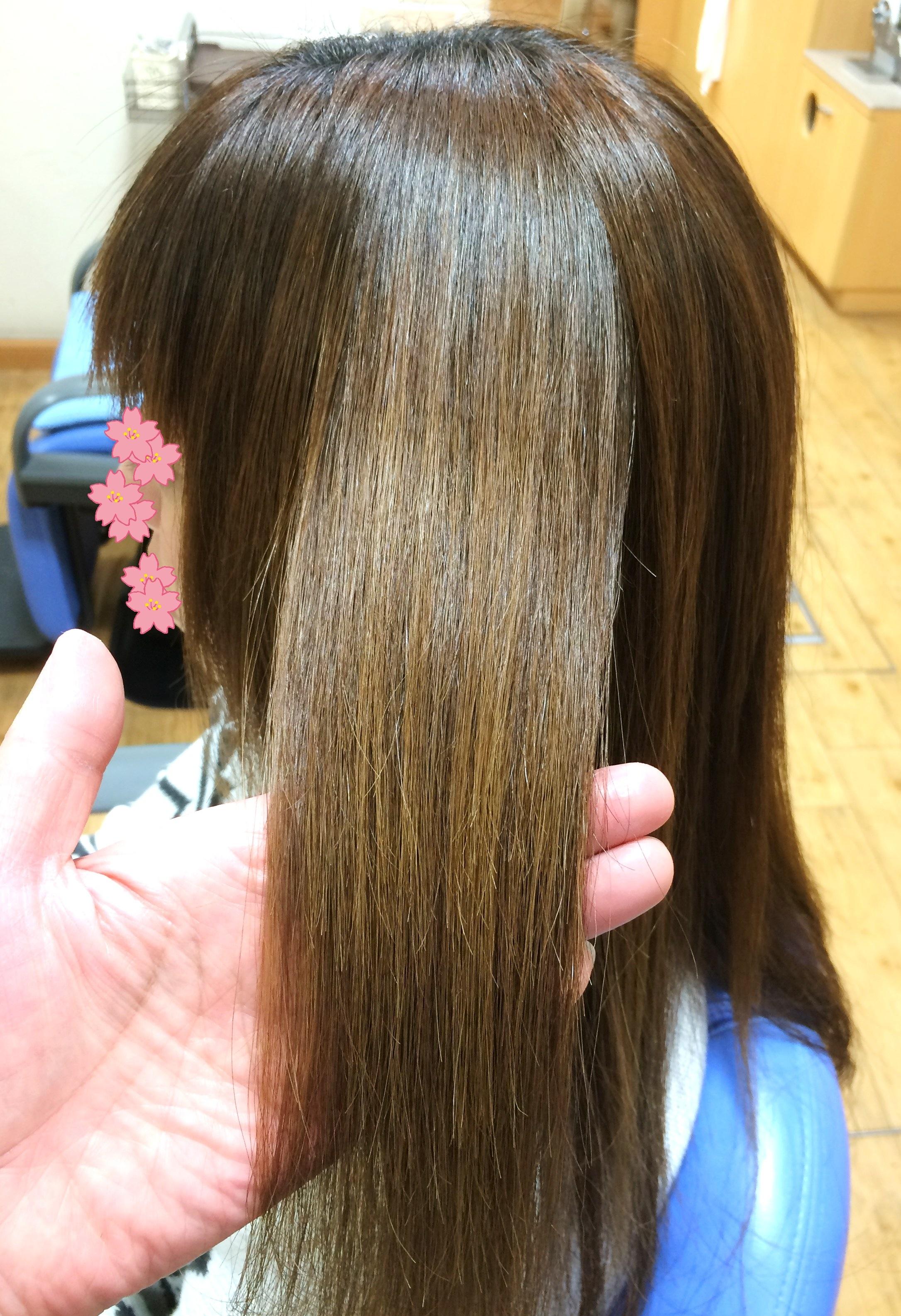 2017年新年の安曇野ハイダメージ毛への縮毛矯正
