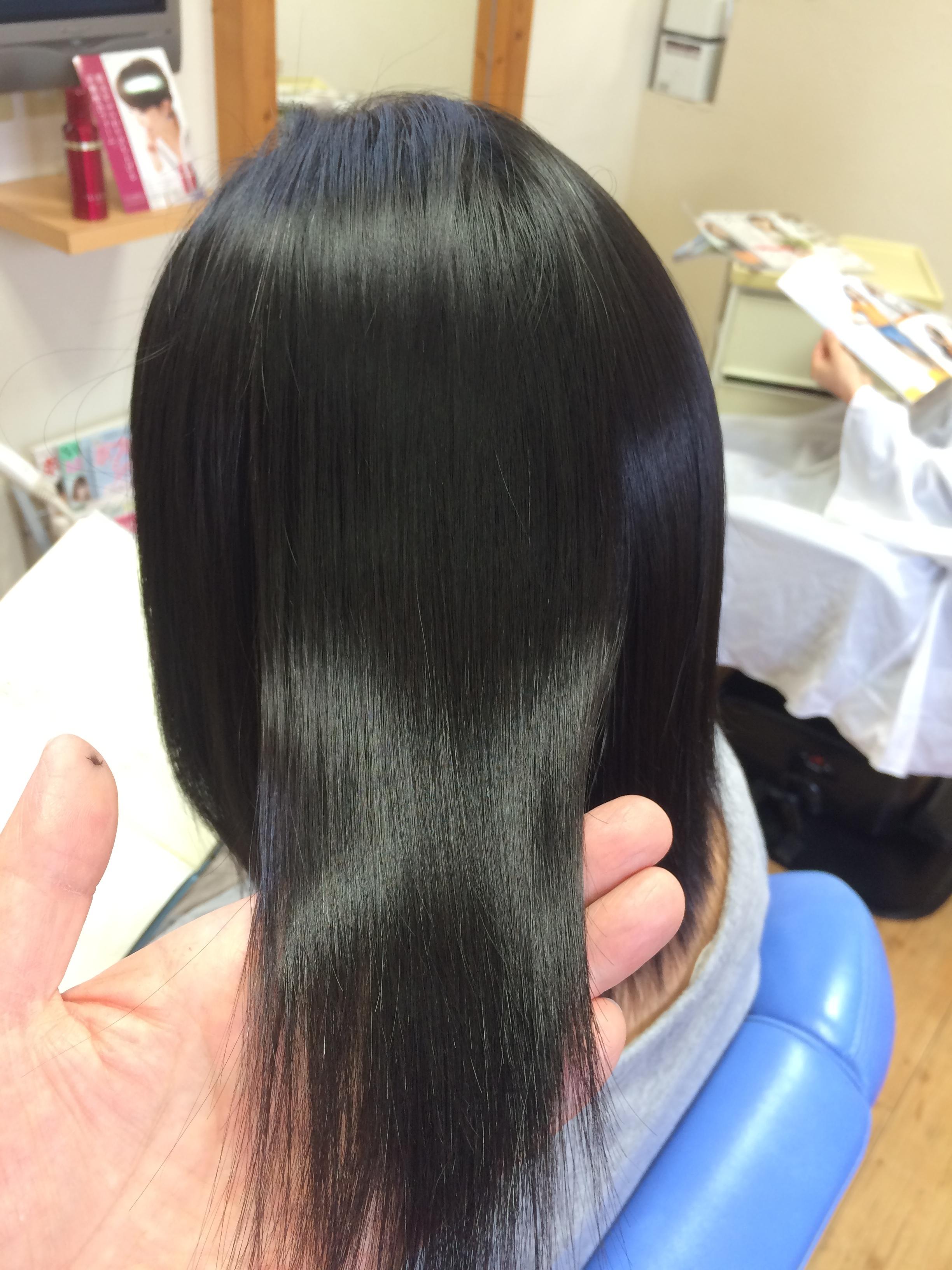 2016年安曇野の冬 縮毛矯正の艶髪ツヤ髪つや髪