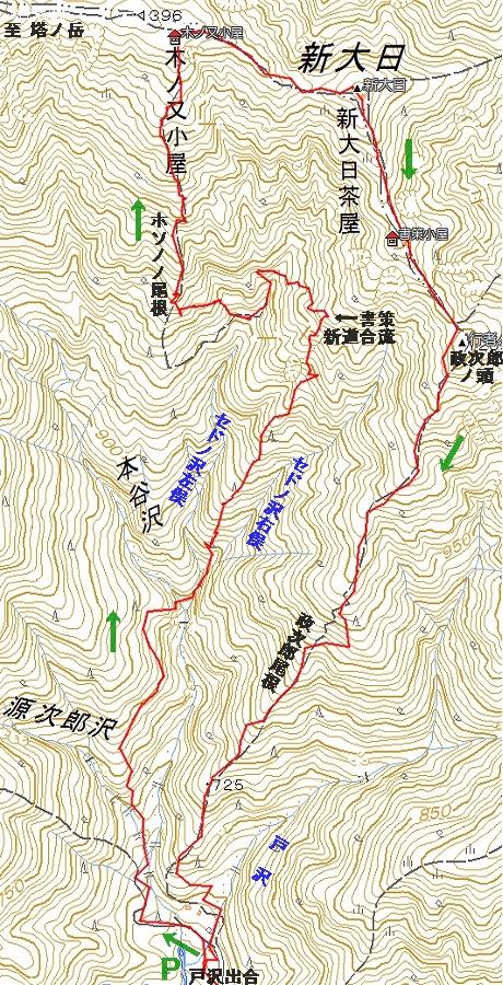 セドノ沢界隈鉱山跡