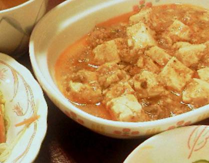 10月24日(月)夜ご飯の美味しい麻婆豆腐