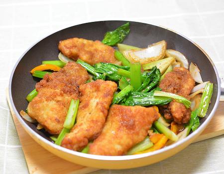 甜麺醤炒め準備3