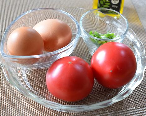トマト卵炒め1