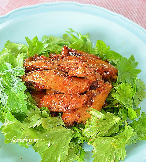 鶏手羽甘辛煮89