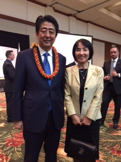 with Prime Minister Abe