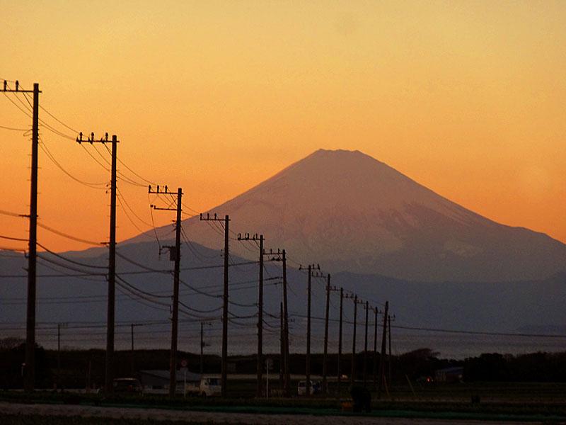 161228冨士山と電柱3