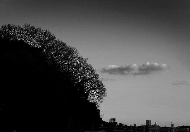 170117枯れ山と浮雲