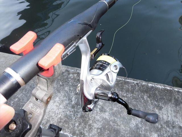 今日の釣り座