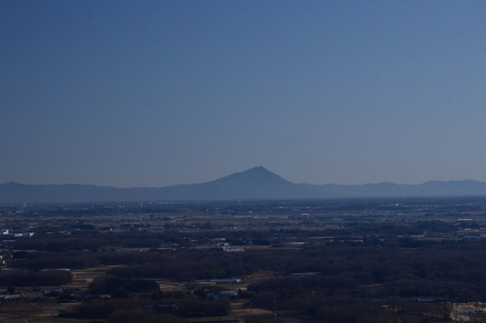 ハンググライダー基地から筑波山