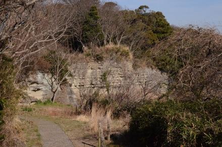 お猿畠の大切岸