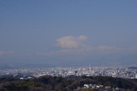 山道から富士山