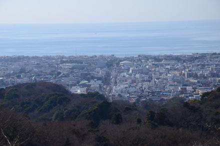 山道から鎌倉市街