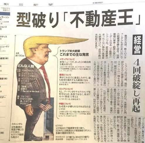 朝日新聞 トランプ