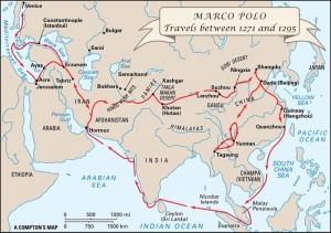 マルコ・ポーロの旅の行程