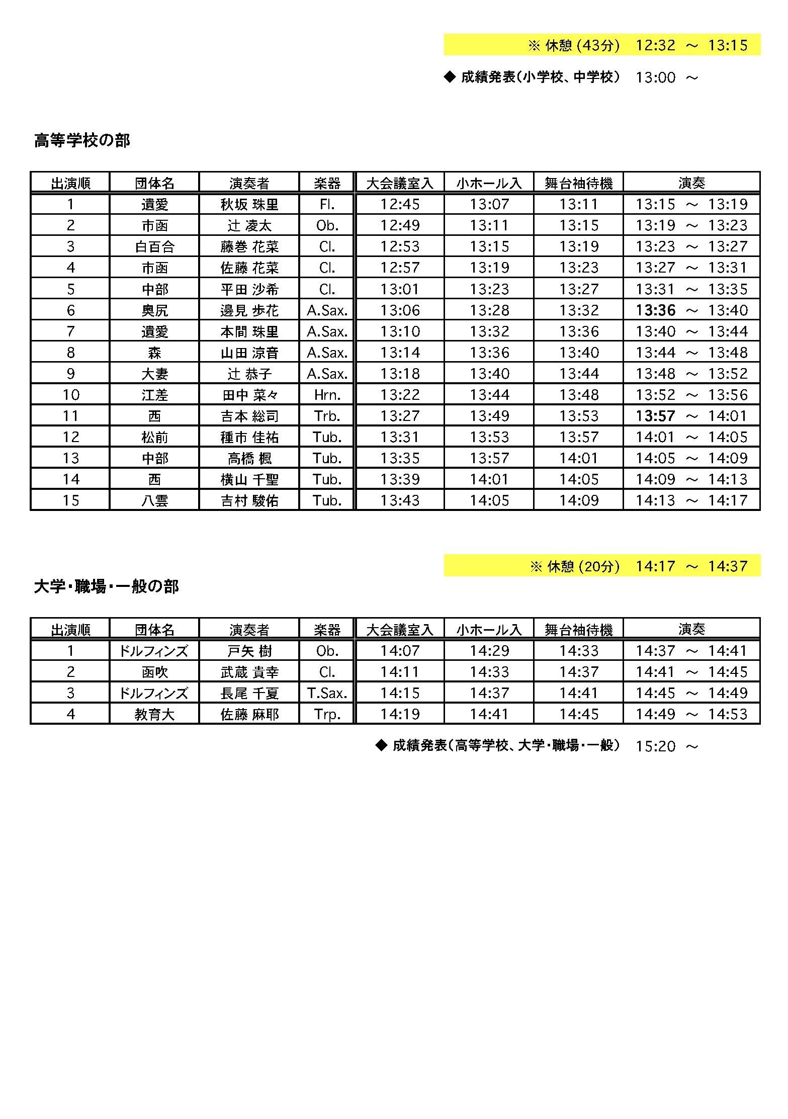 函館地区個人コンクールタイムテーブル2