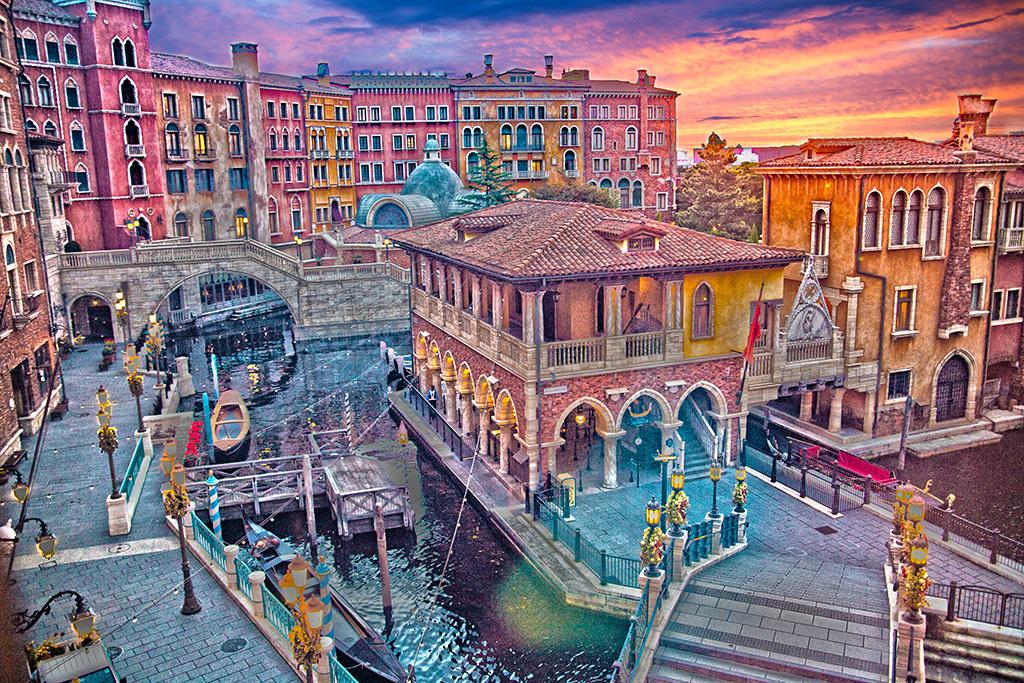 ヴェネツィアの朝焼け/ミラコスタ1