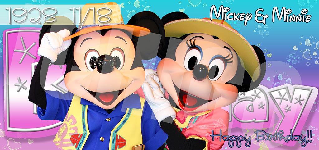 HAPPY BIRTHDAY!!ミッキー&ミニー!!2