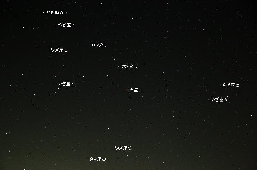 20161124やぎ座の中の火星