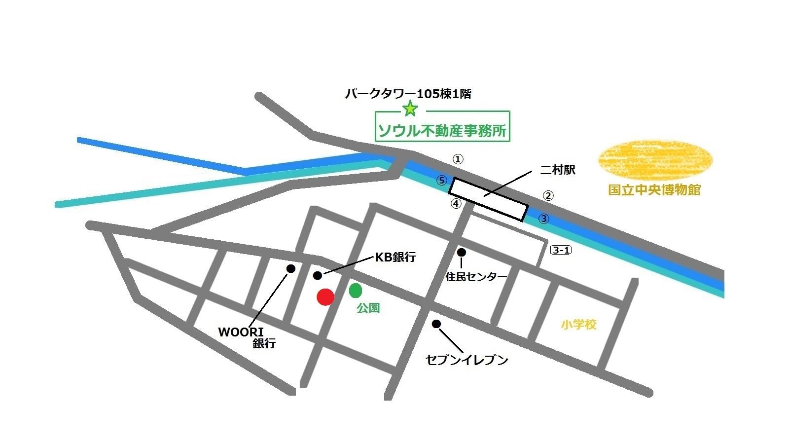 韓国 二村 アティジェ 地図