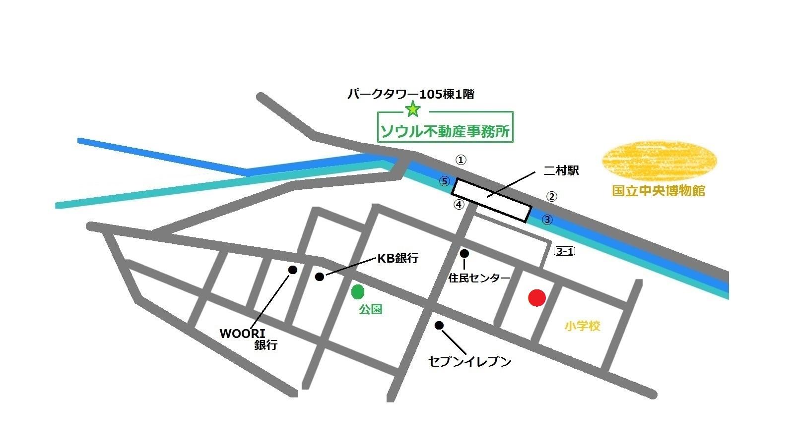 韓国 二村 Le bunmie 地図