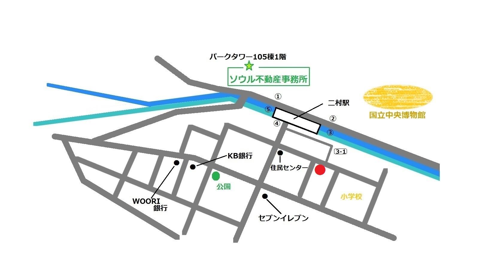韓国 二村 Miss  Lalla 地図