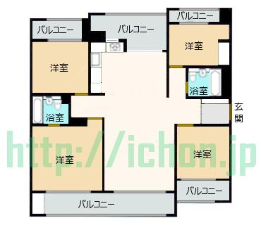 ヨンサン 二村洞 江村アパート 平面図