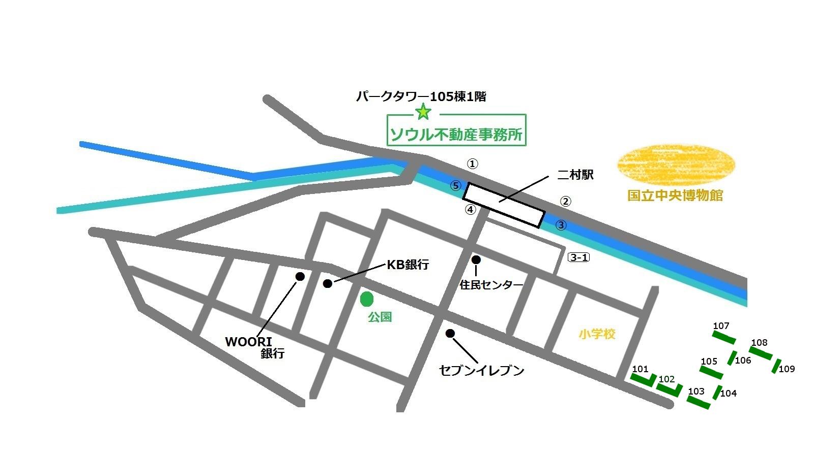 龍山 江村アパート 地図