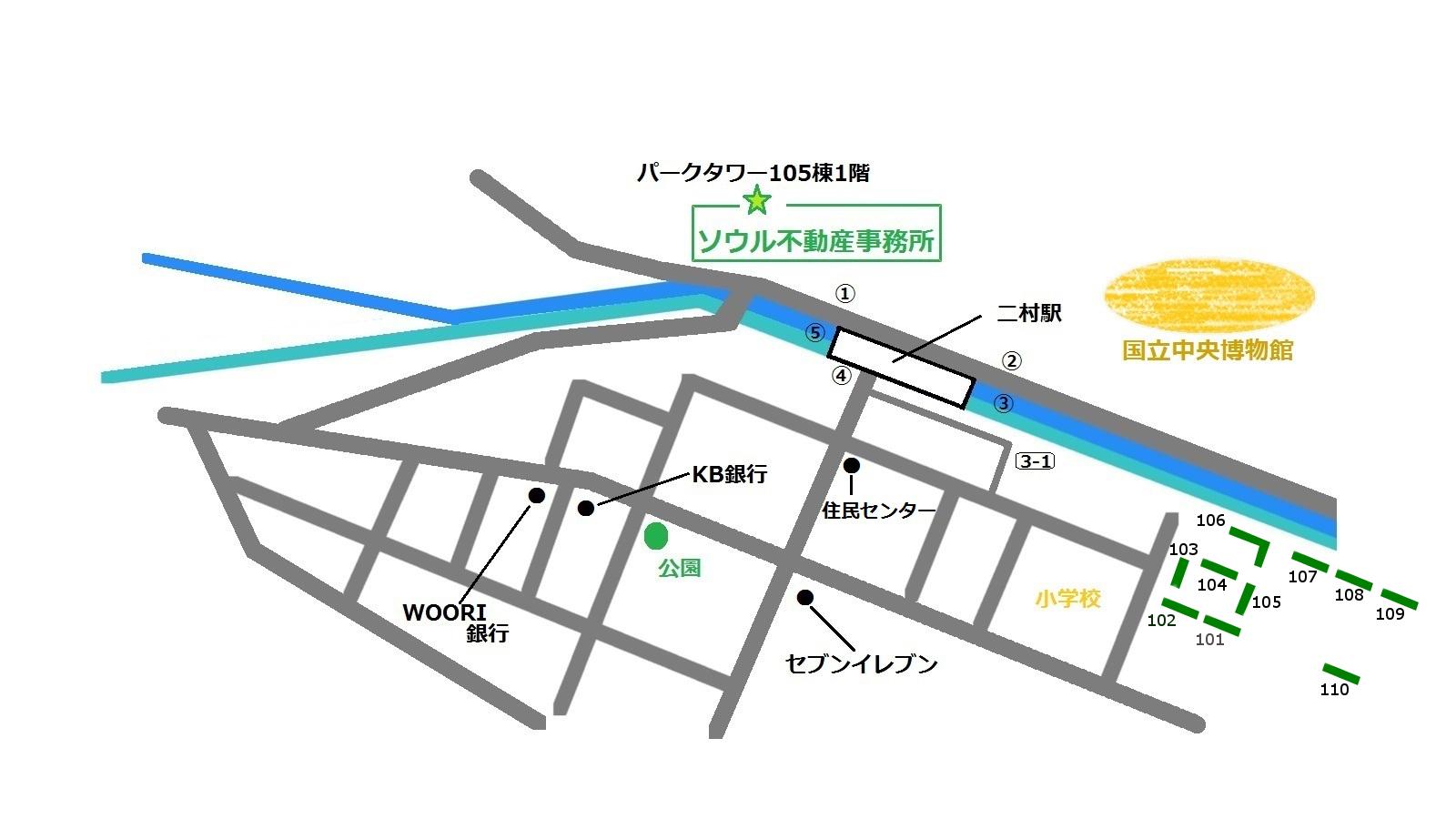 龍山 コーロンアパート 地図